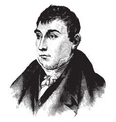 Marquis de lafayette vintage vector