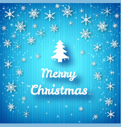 merry christmas bright poster vector image