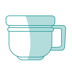 Monocromatic cup design vector