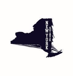 New york state abstract map vector