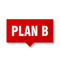Plan b red tag vector