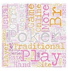 play online poker 1 text background wordcloud vector image