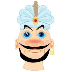 Portrait of the sultan in turban vector