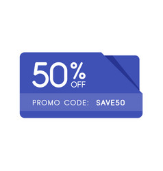 promo code coupon code flat badge design on white vector image