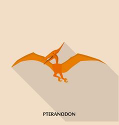 pteranodon icon flat style vector image