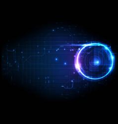 Purple light futuristic circuit digital technology vector