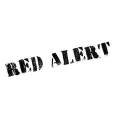 red alert rubber stamp vector image