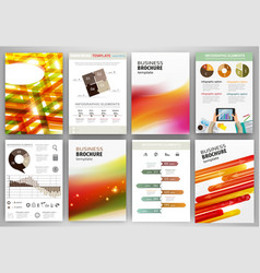 red and orange business backgrounds and abstract vector image