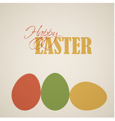 Retro easter egg card poster vector