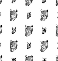 Rhino seamless pattern vector