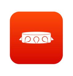 Rock collar icon digital red vector