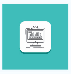 Round button for dashboard admin monitor vector