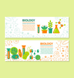 scientific biological banner vector image