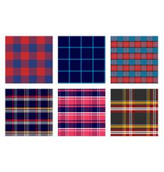Seamless checkered plaid pattern bundle 1 vector