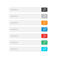 Search bar field set interface elements with vector
