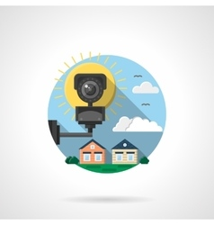 Security cctv color detailed icon vector image