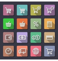 Shopping icons set Flaticons series vector image