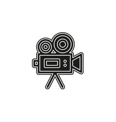 simple video camera icon vector image