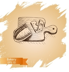 Sketch - bakery bread vector