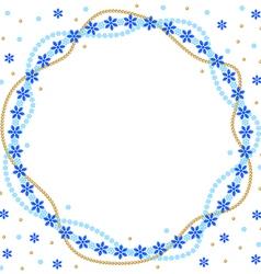 snow round vector image