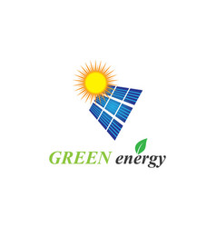 solar panel logo vector image