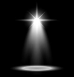 spotlight glow effect light beam white color vector image