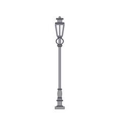 Streetlight vintage lamp vector