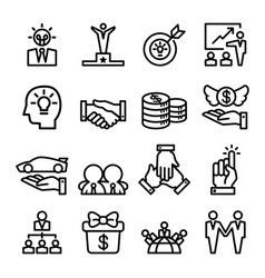 success icon set thin line style vector image