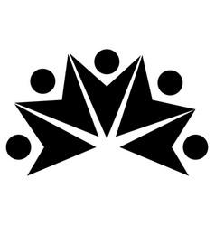 Teamwork symbol silhouette icon vector