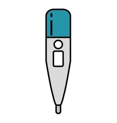 Thermometer medical isolated icon vector