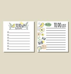 to do lists printable checklist vector image
