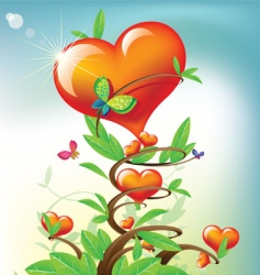 tree heart vector image