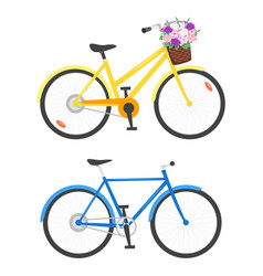two bicycles vector image