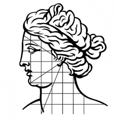 Venus profile vector image