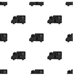 Veterinary ambulance icon in black style isolated vector