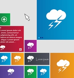 Weather icon sign buttons modern interface website vector