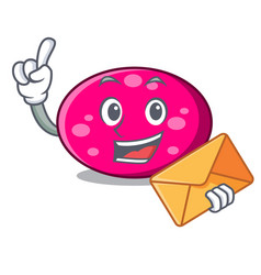 with envelope ellipse character cartoon style vector image