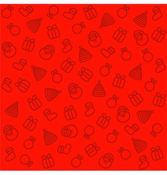 Christmas pattern seamlessly background red vector image