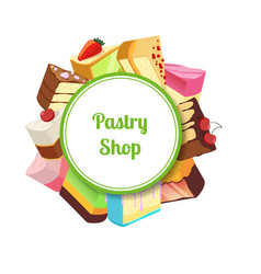 for pastry shop or vector image vector image