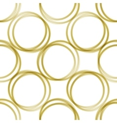golden rings pattern vector image