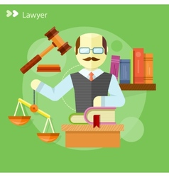 Lawyer icons concept vector image