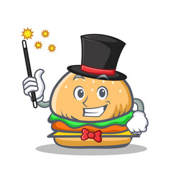 magician burger character fast food vector image vector image