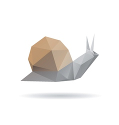 Snail abstract isolated on a white backgrounds vector image