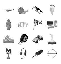 transport weapons parking and other web icon in vector image vector image