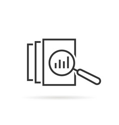 Black thin line assessment logo vector