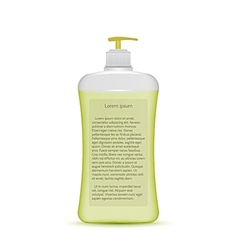 liquid soap bottle vector image