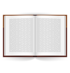Realistic open book vector image