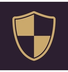 The shield icon Security and safety firewall vector image