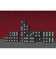 domino buildings vector image