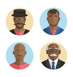 flat design African American men vector image vector image